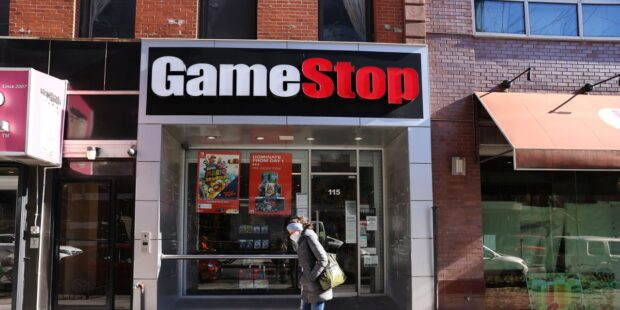 GameStop stock surges to gain of more than 100% late in session