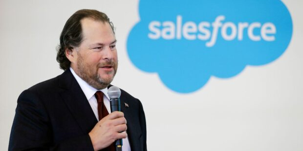 Salesforce's quarterly results top estimates; stock falls after hours