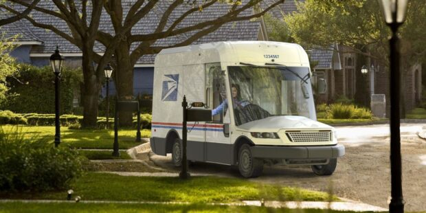 The new design for the USPS mail trucks is delivering an animated social debate