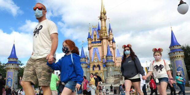 Disney World drops mask requirement for park visitors while outdoors