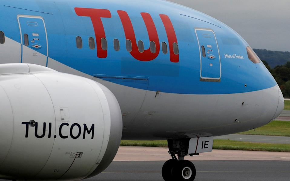 A TUI jet prepares to take off from Manchester Airport - Phil Noble/REUTERS