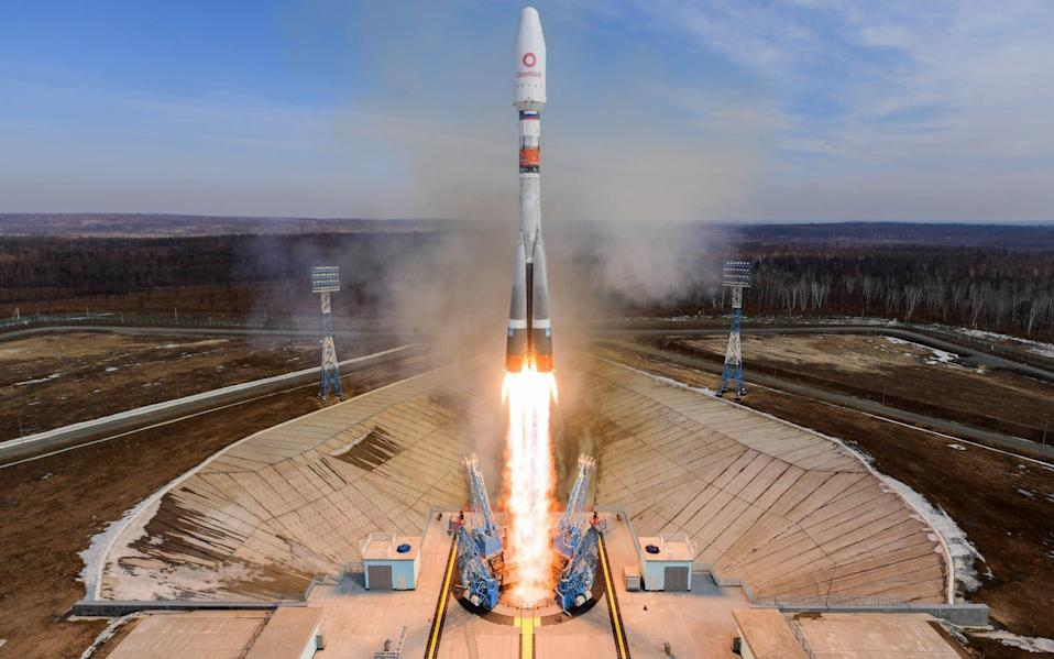 36 OneWeb satellites blasts off from a launch pad in Russia in March - Yuri Smityuk/TASS