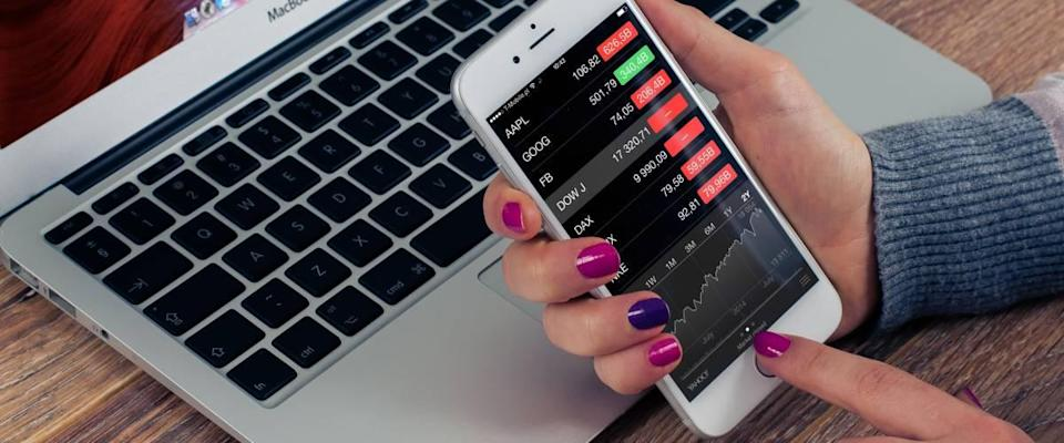 Buying stocks on cell phone