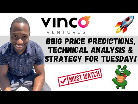 BBIG STOCK (Vinco Ventures)   Ticket Predictions   Analysis   AND Procedure For Tuesday! WATCH ASAP!!