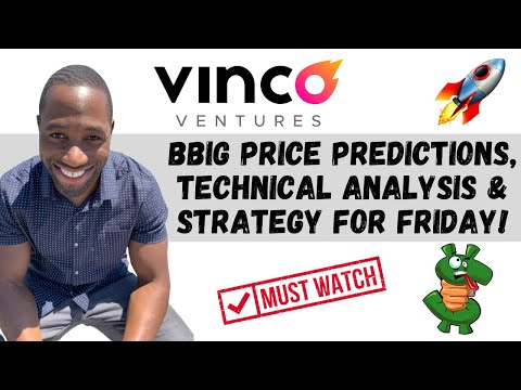 BBIG STOCK (Vinco Ventures) | Put Predictions | Technical Diagnosis | AND Approach For Friday!