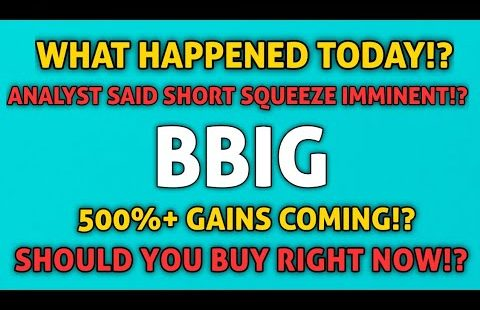 BBIG HUGE NEWS! – SHORT SQUEEZE NOW INEVITABLE SAYS ANALYST!? + WHAT HAPPENED TODAY?