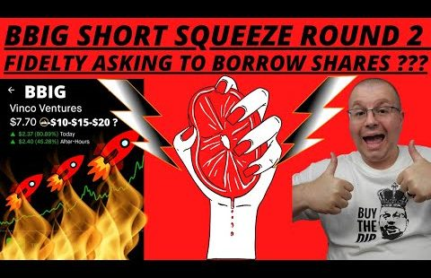 BBIG SHORT SQUEEZE ROUND 2 POSSIBLE ? FIDELTY ASKING TO BORROW OUR SHARES ? BBIG STOCK SHORTS DATA