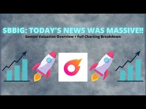 $BBIG: TODAY'S NEWS WAS MASSIVE!! Gemini Valuation Overview + Beefy Charting Breakdown