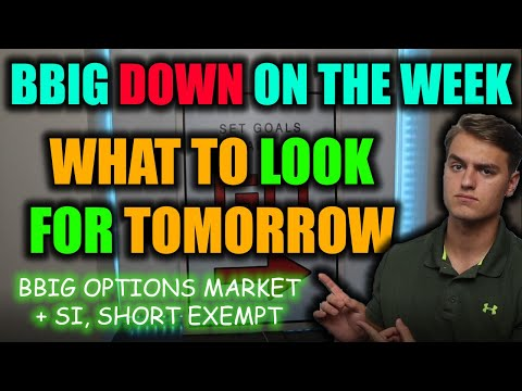 IMPORTANT BBIG STOCK UPDATE FOR TOMORROW! BBIG Stock Alternate choices BBIG Stock Prognosis + Ticket Prediction
